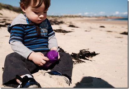 Oliver and the yucky sand