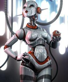 Photoshop+Art+Robot+Woman+Humanoid+Hybrid